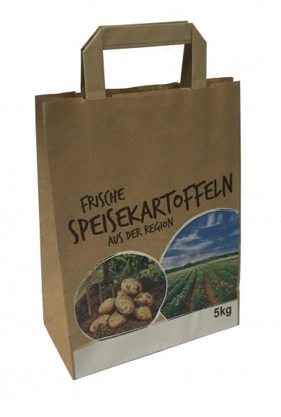 """Kartoffel - Tragetaschen 5,0 kg Motiv: """"frische Speisekartoffel"""""""