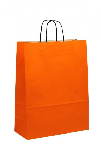 Papiertragetaschen Toptwist Vollfläche orange
