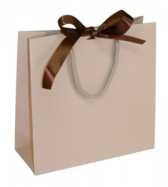 Present - Papiertragetaschen Farbe: Camel