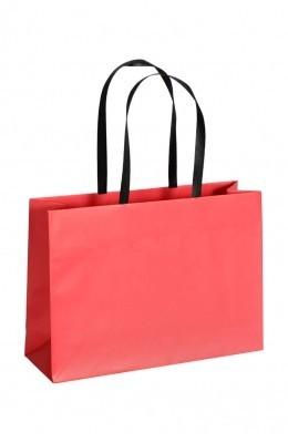 Opti - Papiertragetaschen Farbe: rot
