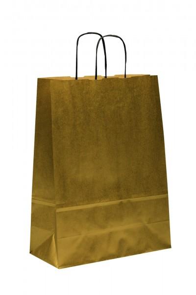 Papiertragetaschen Toptwist Vollfläche gold