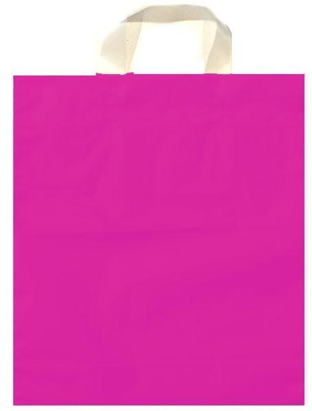 Schlaufen - Tragetaschen Uni Farbe: mattpink