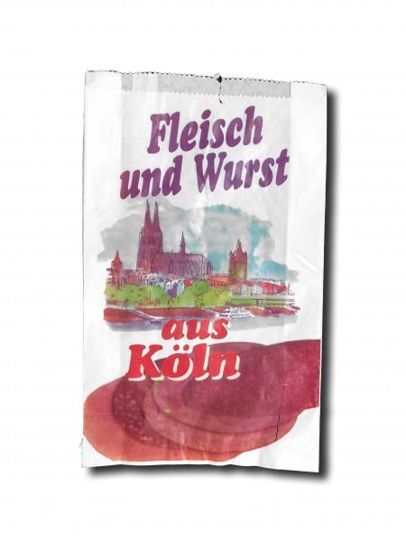 """Faltenbeutel """"Fleisch & Wurst aus Köln"""" - Nr. 6"""