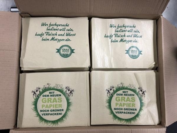 """Graspapier - Einschlagpapier """"Fleisch & Wurst"""" 1/16 Sonderposten"""