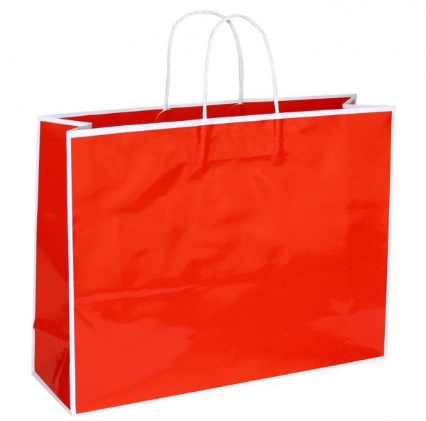 Caro - Papiertragetaschen Farbe: rot/weiß