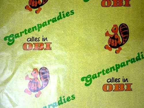 Blumeneinschlagpapier Firmendruck: OBI
