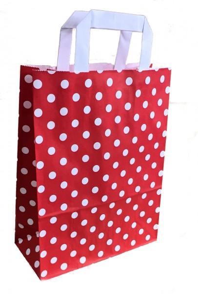 "Papiertragetaschen Topcraft ""Punkte rot"""