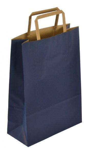Papiertragetaschen Standard recyceld Farbe: blau