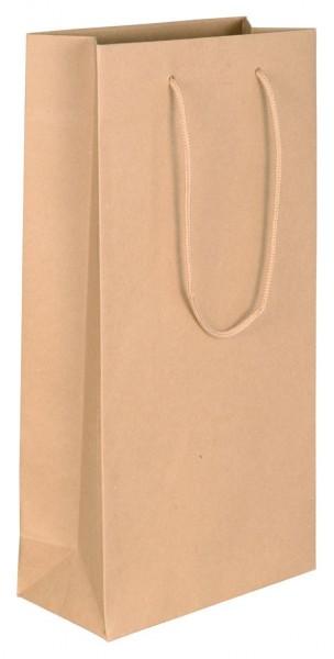 Flaschenbeutel für 2 Flaschen Farbe: braun