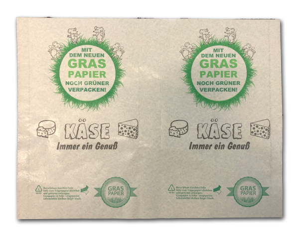 "Graspapier - Frischpack ""Käse"""