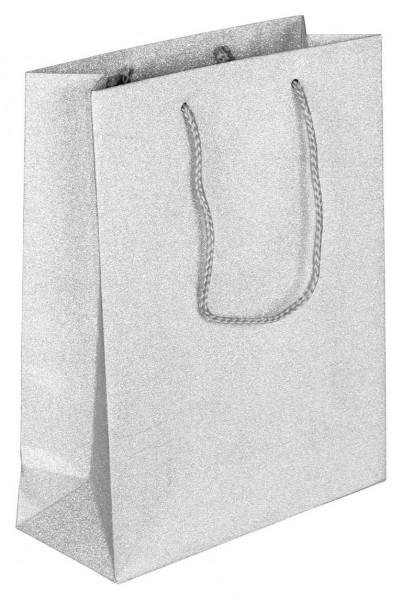 Glamour - Papiertragetaschen Farbe: silber