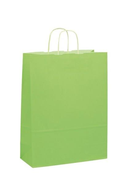 Papiertragetaschen Toptwist Vollfläche hellgrün
