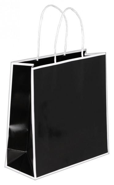 Caro - Papiertragetaschen Farbe: schwarz/weiß