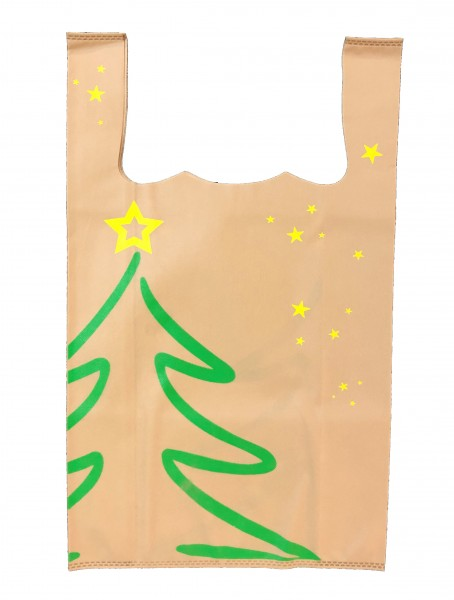 """PP-Vlies Hemdchentragetaschen Farbe: beige """"Tanne & Sterne"""""""
