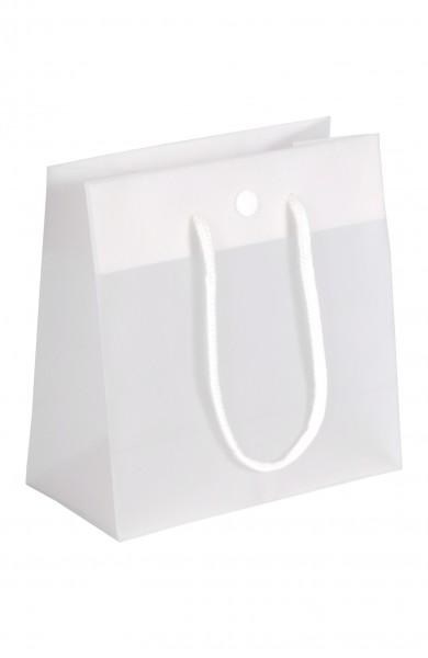 DeLuxe - Folientragetaschen Farbe: weißtransparent