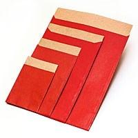 Flachbeutel - Kraftpapier rot T4