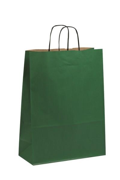 Papiertragetaschen Toptwist Vollfläche grün