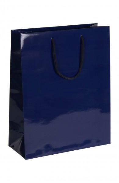 Exklusive - Papiertragetaschen Druck: blau