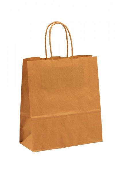 Papiertragetaschen Toptwist ohne Druck/braun