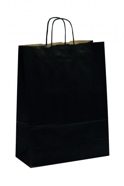 Papiertragetaschen Toptwist Vollfläche schwarz