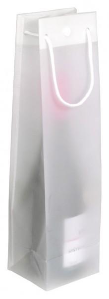 Flaschenbeutel aus Polypropylen für 1 Flaschen Farbe: weißtransparent