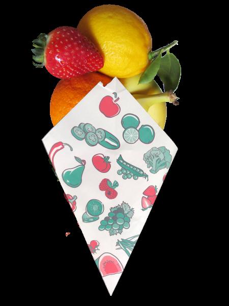 """Obst - Spitztüten weiß """"Früchte"""" - Nr. 12"""