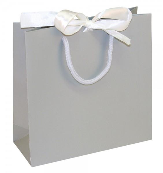 Present - Papiertragetaschen Farbe: grau