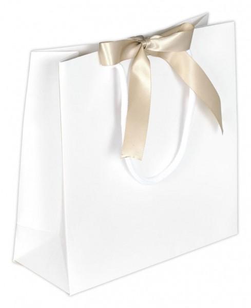 Present - Papiertragetaschen Farbe: Elfenbein