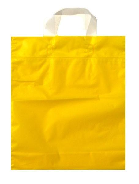 Schlaufen - Tragetaschen Uni Farbe: mattgelb