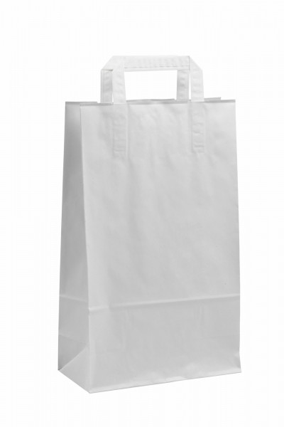 Papiertragetaschen Topcraft ohne Druck/weiß