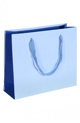 Royal - Papiertragetaschen Farbe: hellblau/blau