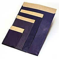 Flachbeutel - Kraftpapier blau T4