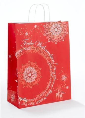 """Papiertragetaschen Toptwist """"Weihnachtsphantasie"""" rot"""
