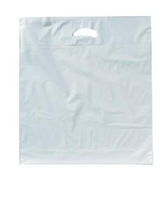 Poly - Tragetaschen ohne Druck/weiß LDPE