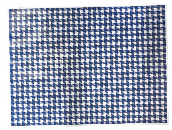 """Frischpack illu 55 gr/qm """"karo"""" blau - 1/8 Bogen"""