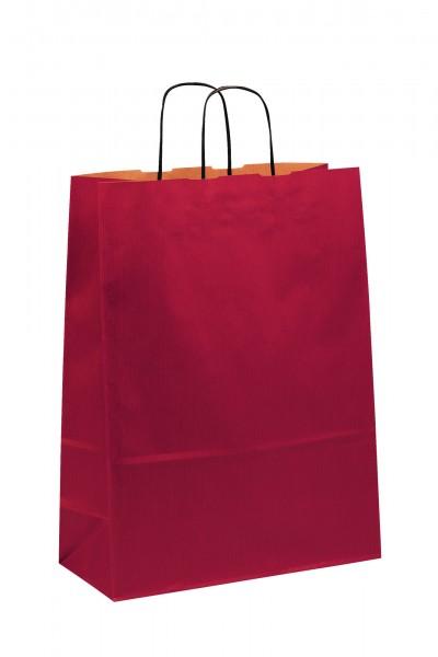 Papiertragetaschen Toptwist Vollfläche rot