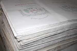Andruckpapier 2te Wahl von Firmenlogos