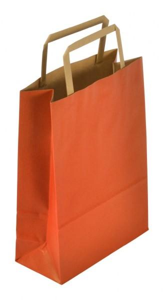 Papiertragetaschen Standard recyceld Farbe: rot