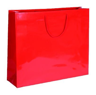 Exklusive - Papiertragetaschen Druck: rot
