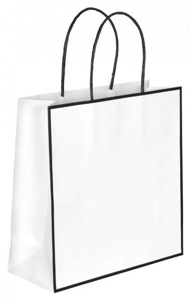 Caro - Papiertragetaschen Farbe: weiß/schwarz