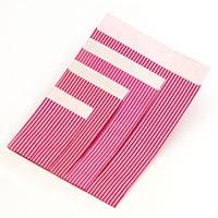 Flachbeutel - Lignes pink-silber T2
