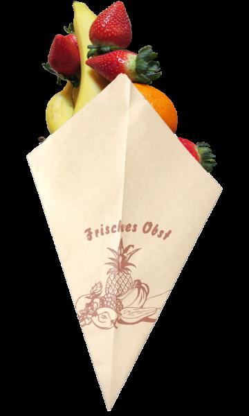 """Obst - Spitztüten braun NaMi """"frisches Obst"""" - Nr. 10"""