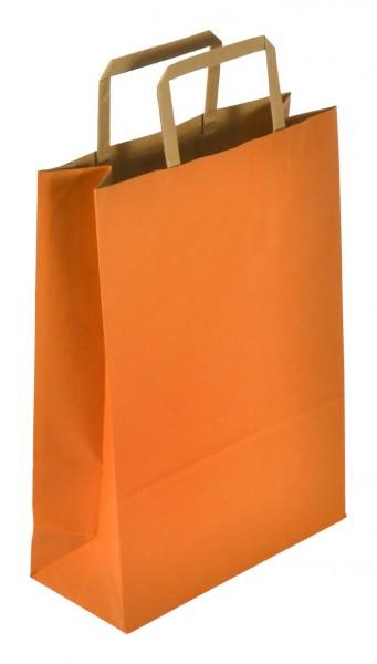 Papiertragetaschen Standard recyceld Farbe: orange