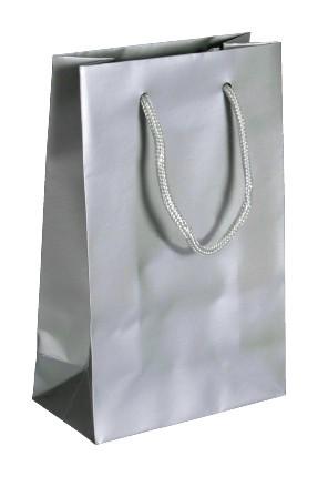 Exklusive - Papiertragetaschen Druck: silber