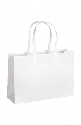 Opti - Papiertragetaschen Farbe: weiß