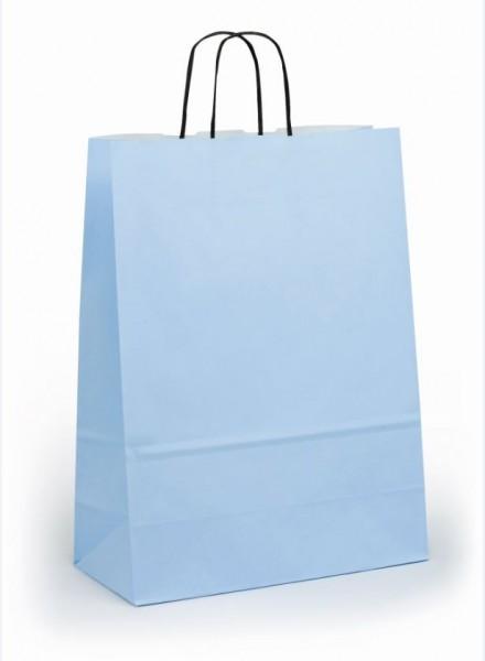 Papiertragetaschen Toptwist Vollfläche hellblau