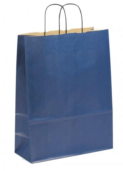 Papiertragetaschen Toptwist Vollfläche blau