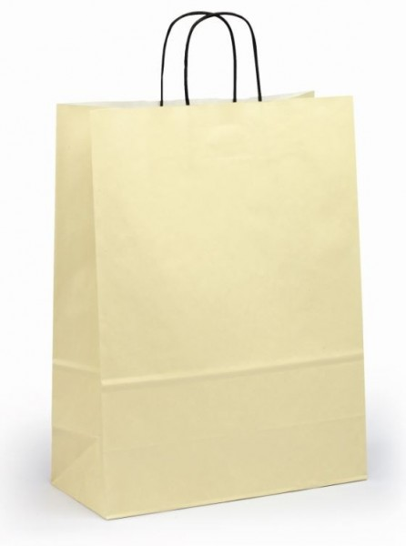 Papiertragetaschen Toptwist Vollfläche elfenbein