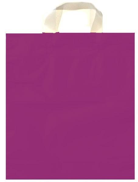 Schlaufen - Tragetaschen Uni Farbe: mattlila