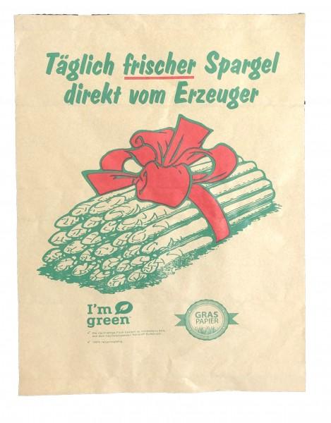 "Graspapier - Frischpack ""Spargel"" - 1/4 Bogen"